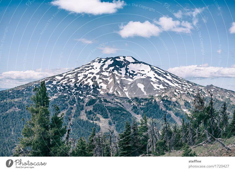 Mt. Fuji, zumindest fast Natur Landschaft Himmel Sommer Schönes Wetter Berge u. Gebirge Gipfel Schneebedeckte Gipfel Vulkan Idylle Tourismus