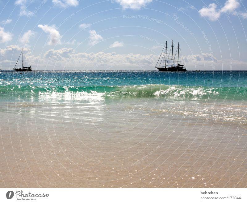 stress...wasn das? Wasser schön Himmel Meer Strand Ferien & Urlaub & Reisen Wolken Ferne Freiheit Glück träumen Zufriedenheit Wellen Küste Abenteuer Insel
