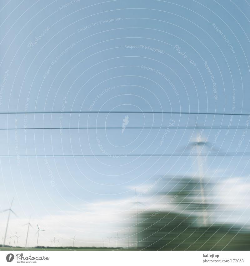 bahnfahrt Farbfoto Außenaufnahme abstrakt Textfreiraum oben Tag Bewegungsunschärfe Technik & Technologie Wissenschaften Fortschritt Zukunft High-Tech