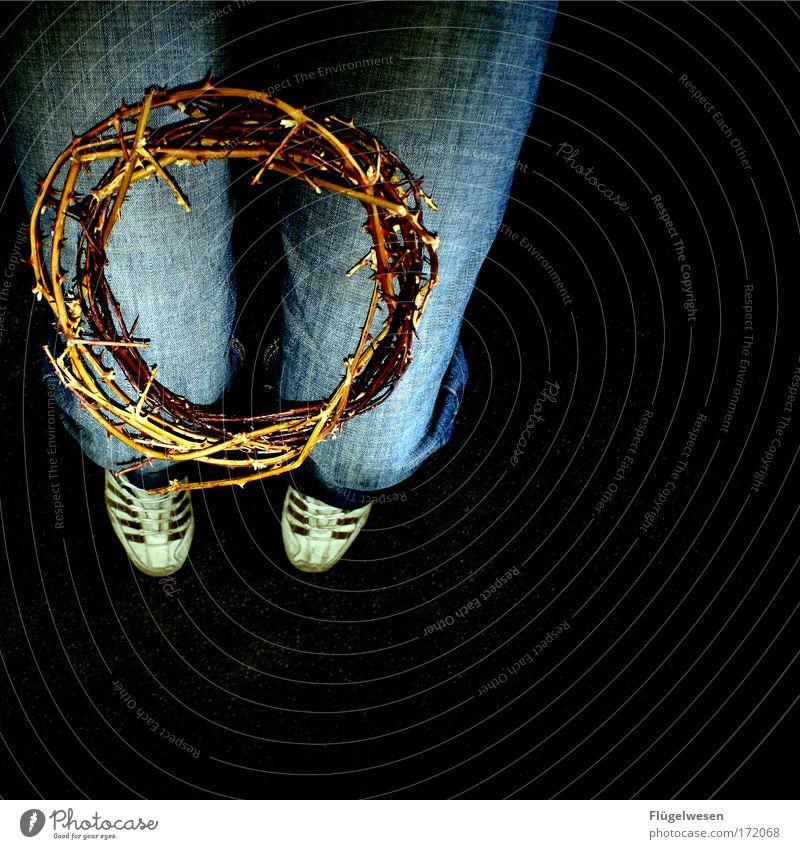 The Crown of Thorns Tod Beine Religion & Glaube Christliches Kreuz Kruzifix Durst Knie Krone Dorn Sünde Qual knien Insignien Christentum Dornenkrone