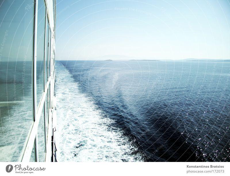 30,5 Knoten Ferien & Urlaub & Reisen Meer Ferne Freiheit Bewegung Wasserfahrzeug Wellen Horizont Tourismus Geschwindigkeit fahren Ziel Schifffahrt Schönes Wetter Europa Sommerurlaub