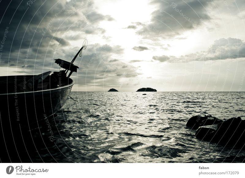 THE OCEAN Gedeckte Farben Außenaufnahme Textfreiraum oben Textfreiraum unten Abend Dämmerung Reflexion & Spiegelung Zentralperspektive Natur Landschaft Sand