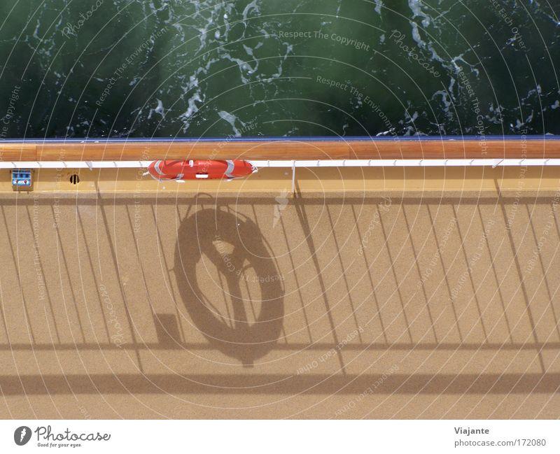 21,5 Knoten weiß Meer blau Ferien & Urlaub & Reisen orange frisch Neugier Schifffahrt Ostsee Fernweh Norwegen Optimismus Fähre Kreuzfahrt Rettungsring