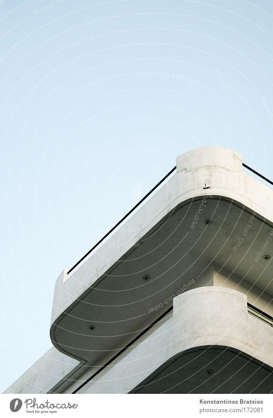 /^ Himmel blau Haus schwarz grau Gebäude hell Design Beton hoch Perspektive neu Wachstum Ecke Zukunft