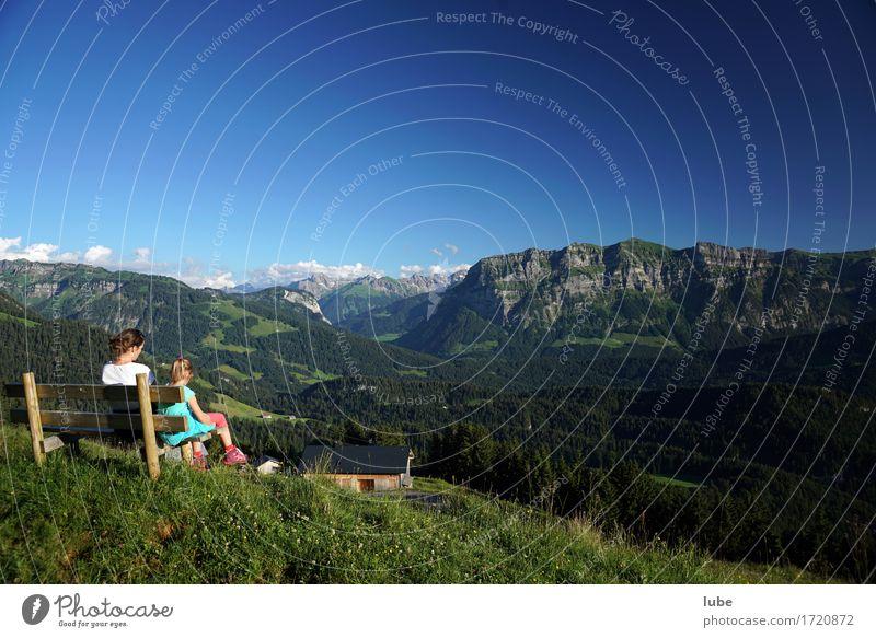 Ruhebank Ferien & Urlaub & Reisen Tourismus Ausflug Ferne Freiheit Sommer Sommerurlaub Berge u. Gebirge wandern Umwelt Natur Landschaft Himmel