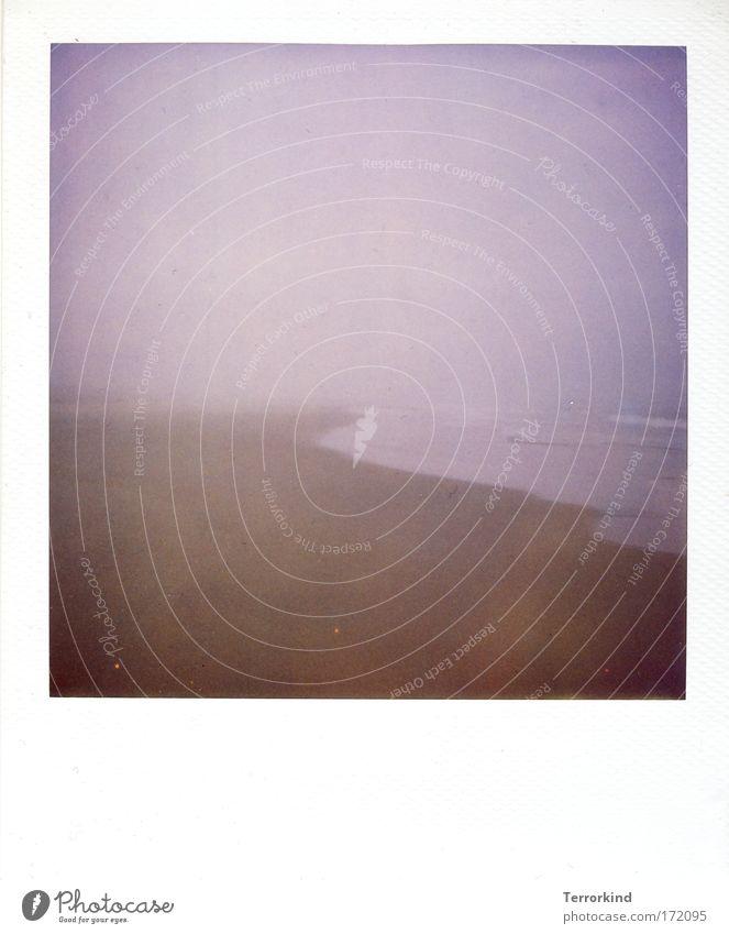 Wie.können.2.Menschen. Meer Strand Sand Polaroid Nebel Sylt Scan