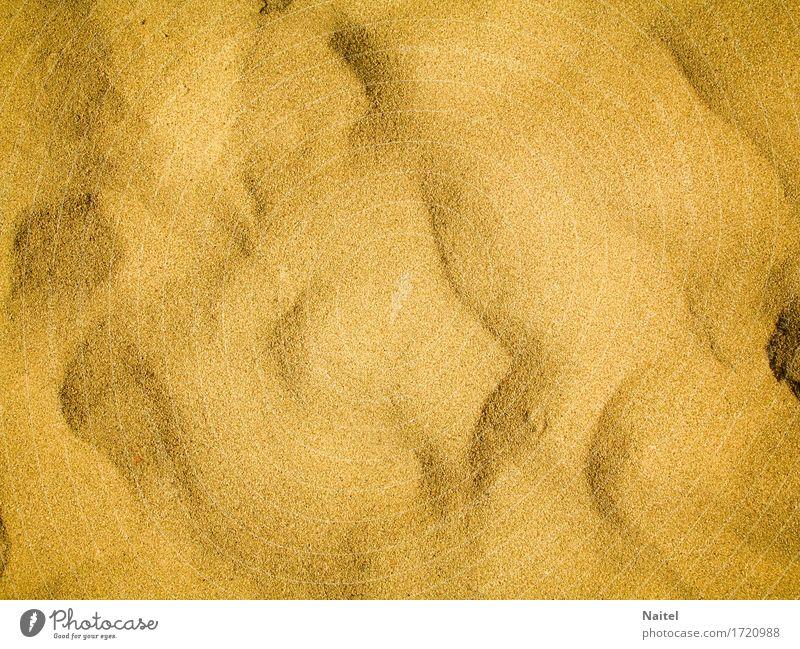 Der Sand am Strand Sommer Meer gelb Pulver