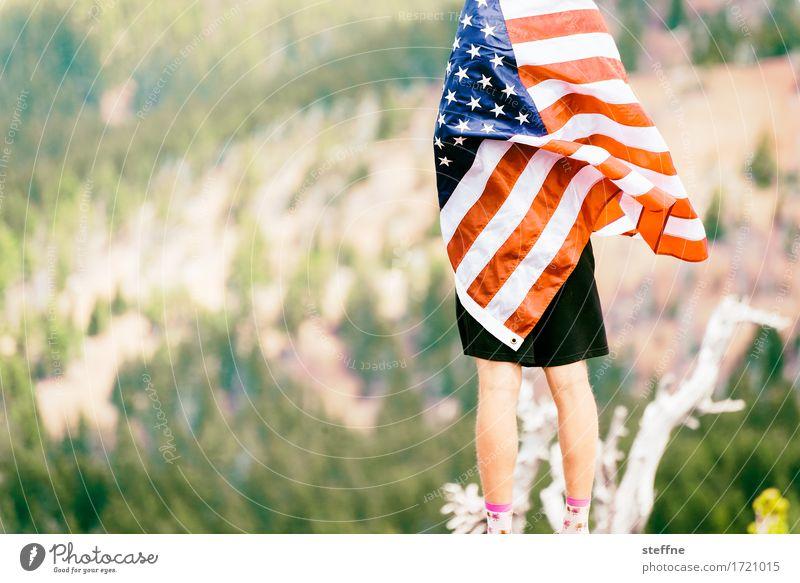 Patriotismus, Patridiotie Freiheit USA Zeichen Symbole & Metaphern Fahne Stars and Stripes dominant Oregon