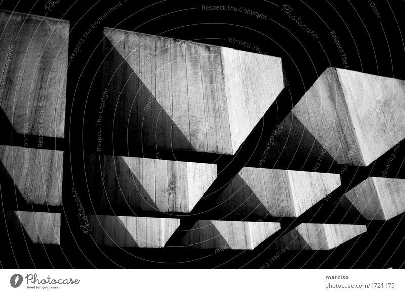 geometry Architektur Kunst Kunstwerk Industrieanlage Bauwerk Gebäude Mauer Wand Stein grau schwarz Gefühle Neugier Hoffnung Glaube demütig träumen Design
