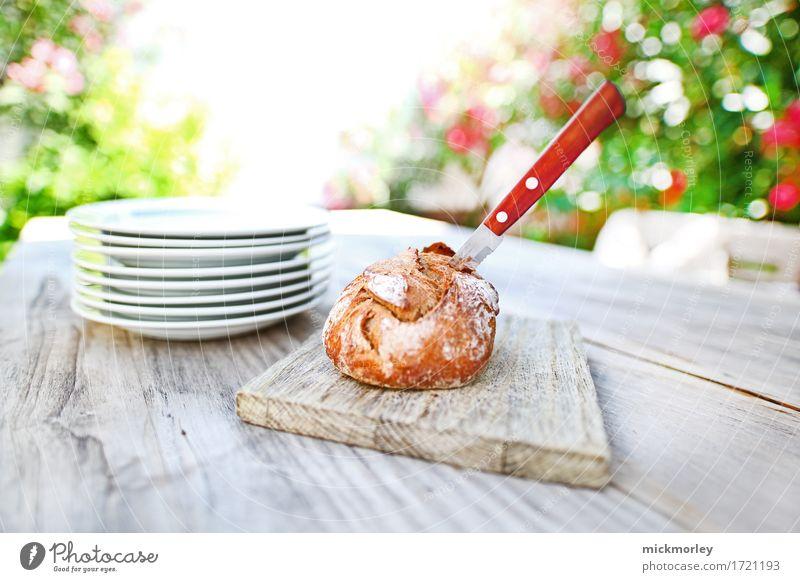 Frisches Brot im Sommergarten Ferien & Urlaub & Reisen grün schön Erholung Essen Leben natürlich Lifestyle Stil Gesundheit Feste & Feiern braun Zufriedenheit