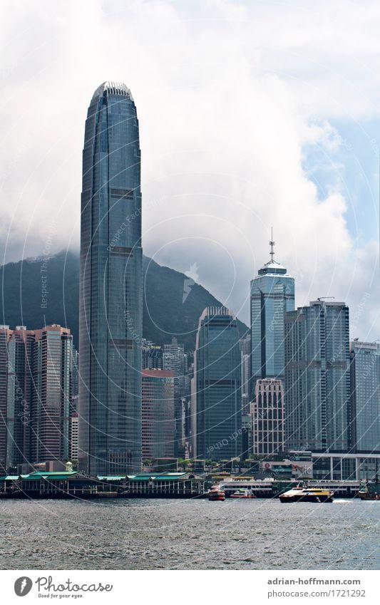Hong Kong - Victoria Harbour Ferien & Urlaub & Reisen Tourismus Ferne Sightseeing Städtereise Hongkong China Asien Stadt Hafenstadt Stadtzentrum Skyline Haus