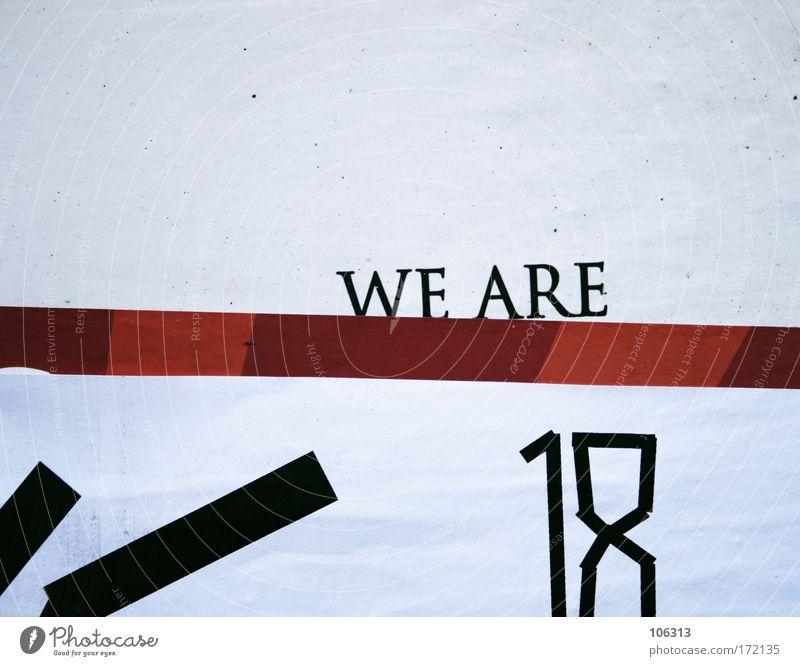 Fotonummer 127827 weiß Farbe Wand Druckerzeugnisse Hintergrundbild Design Geburtstag Schriftzeichen einfach Ziffern & Zahlen Buchstaben Streifen Zeichen