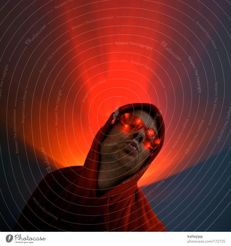 wie im himbeer-himmel Farbfoto mehrfarbig Innenaufnahme Studioaufnahme Nahaufnahme Textfreiraum oben Abend Nacht Kunstlicht Kontrast Silhouette Totale Porträt