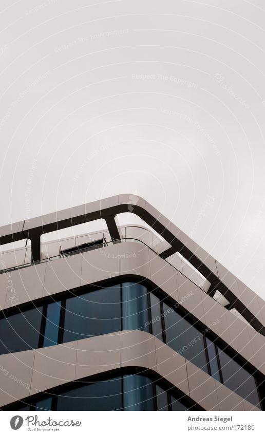 Ufotektur Himmel grün Wolken Haus dunkel kalt Fenster Architektur grau Gebäude Fassade Design modern Hochhaus ästhetisch