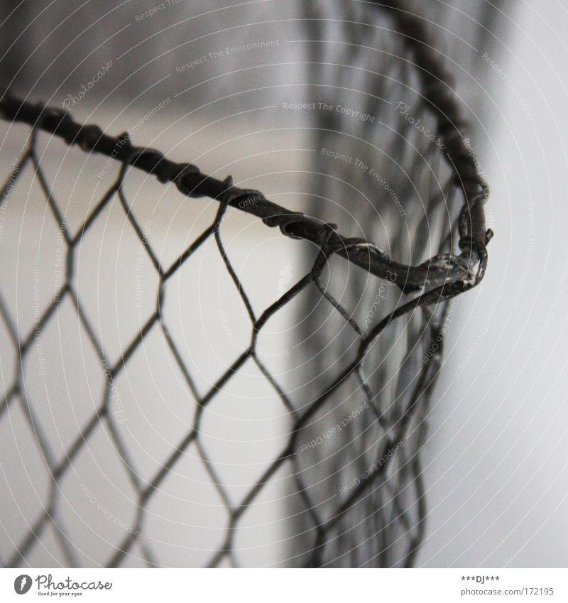 Maschendrathzaun Metall Design Netz Stahl Rost Container