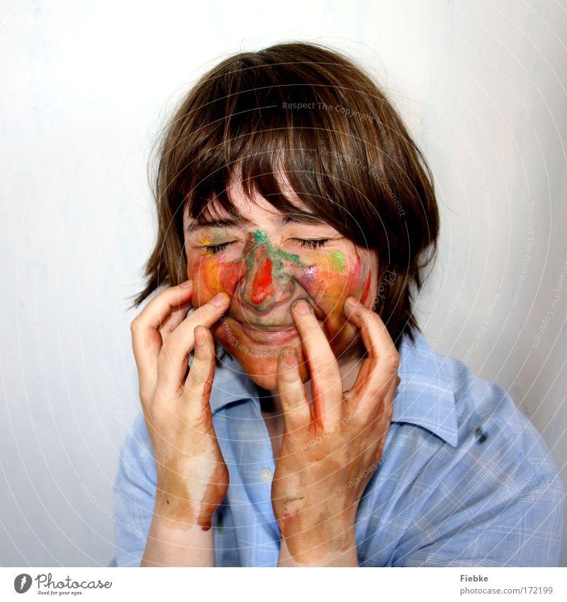 Color Your World Mensch Hand Jugendliche Mädchen Freude Gesicht Farbe Kind feminin Glück lachen Haare & Frisuren Farbstoff Künstler lustig