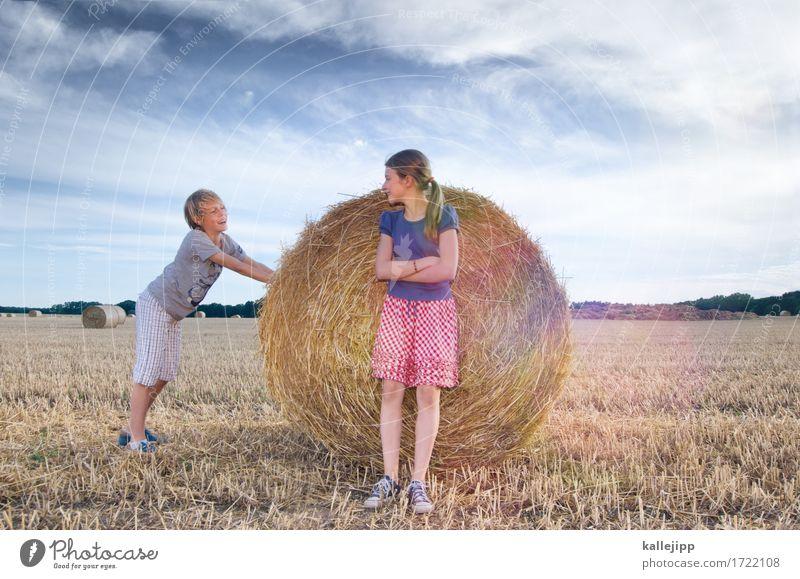 keep on rollin Mensch Kind Natur Sommer Wolken Freude Mädchen Umwelt Leben sprechen Junge Familie & Verwandtschaft Spielen lachen Feld Kommunizieren