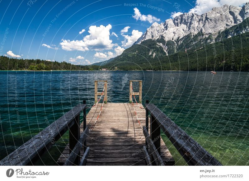 verpasst Ferien & Urlaub & Reisen Tourismus Ausflug Abenteuer Sommer Sommerurlaub Berge u. Gebirge Natur Landschaft Alpen Zugspitze See Eibsee Deutschland