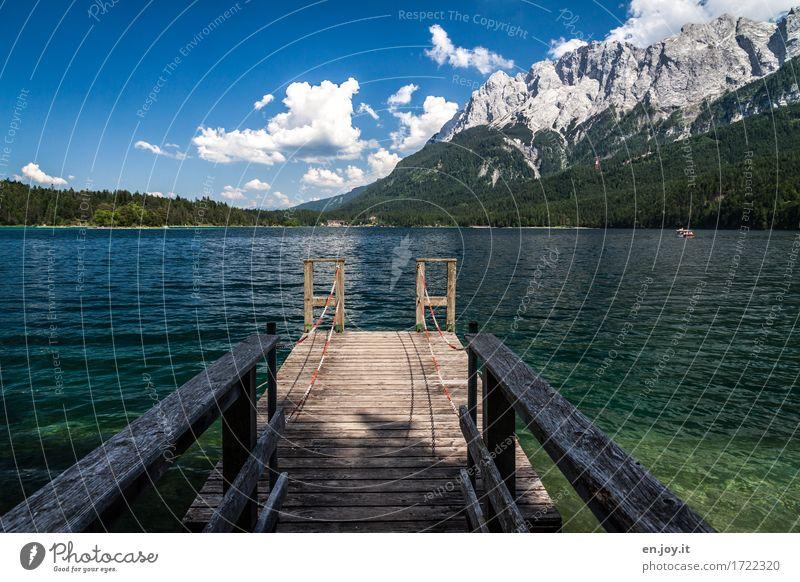 verpasst Natur Ferien & Urlaub & Reisen blau Sommer Wasser Landschaft Erholung Ferne Berge u. Gebirge See Deutschland Tourismus Idylle Ausflug Abenteuer Geländer