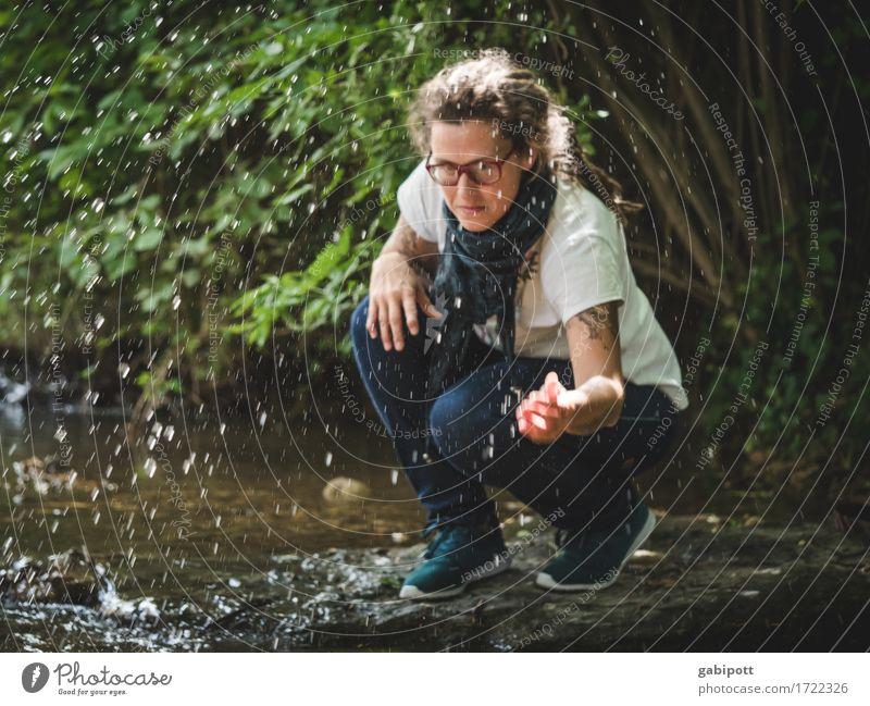 Schwäbische Landpartie | freshmai Ausflug Abenteuer Sommer Mensch feminin Frau Erwachsene Leben 1 Umwelt Natur Wasser Wassertropfen Schönes Wetter Flussufer