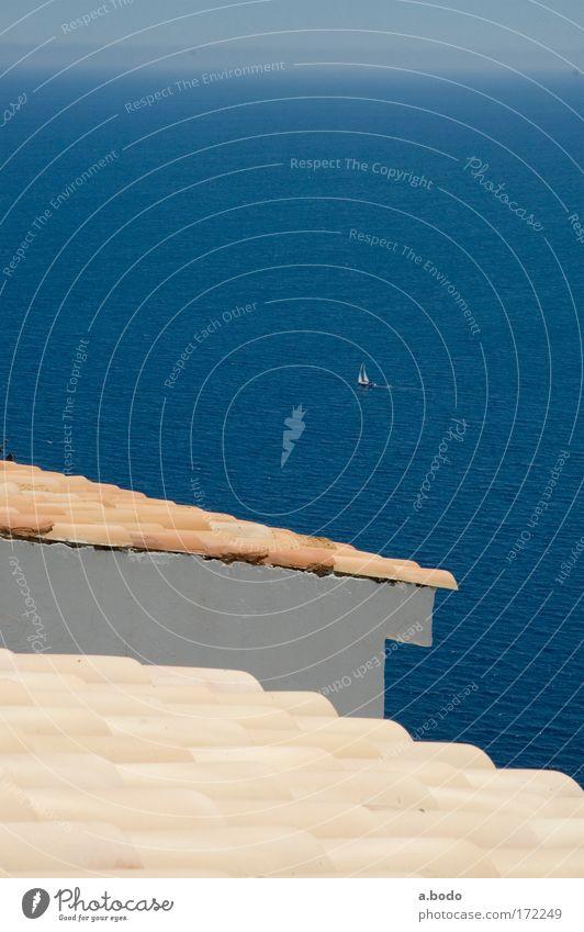 Über den Dächern Himmel Natur Wasser Ferien & Urlaub & Reisen Sonne Meer Sommer Ferne Landschaft Wärme Freiheit Küste Luft Wellen Freizeit & Hobby Insel