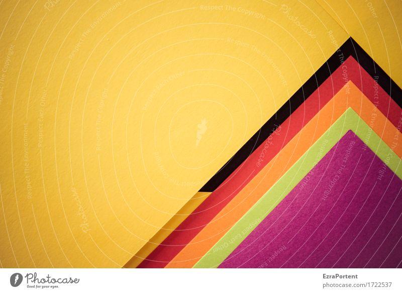 G////srogL```` Papier Dekoration & Verzierung Zeichen Linie Pfeil Streifen ästhetisch eckig mehrfarbig gelb grün violett orange rot schwarz Design Farbe