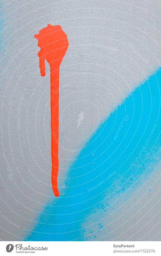 laufen lassen Mauer Wand Fassade Dekoration & Verzierung Zeichen Graffiti Streifen wild blau grau rot Farbe Fleck Farbfleck malen Hintergrundbild Farbfoto