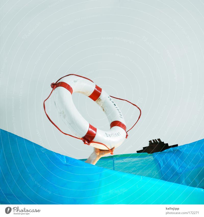 wowi Mensch Hand Wasser blau Meer Wasserfahrzeug Wellen Arme Schwimmen & Baden Verkehr Unterwasseraufnahme Schifffahrt Comic Schornstein Unfall Desaster