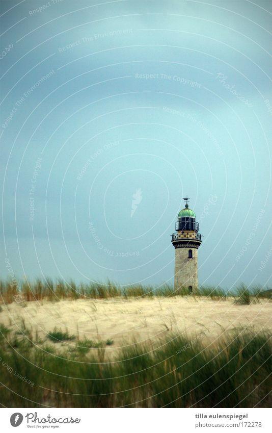 kühlt ab. Natur ruhig Küste Deutschland Leuchtturm Ostsee Mecklenburg-Vorpommern Warnemünde