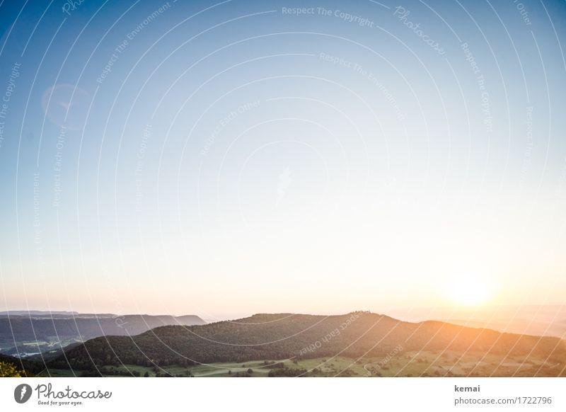 Schwäbisches Land Natur Ferien & Urlaub & Reisen blau Sommer schön grün Landschaft Erholung ruhig Ferne Wald Berge u. Gebirge Umwelt Wärme Freiheit