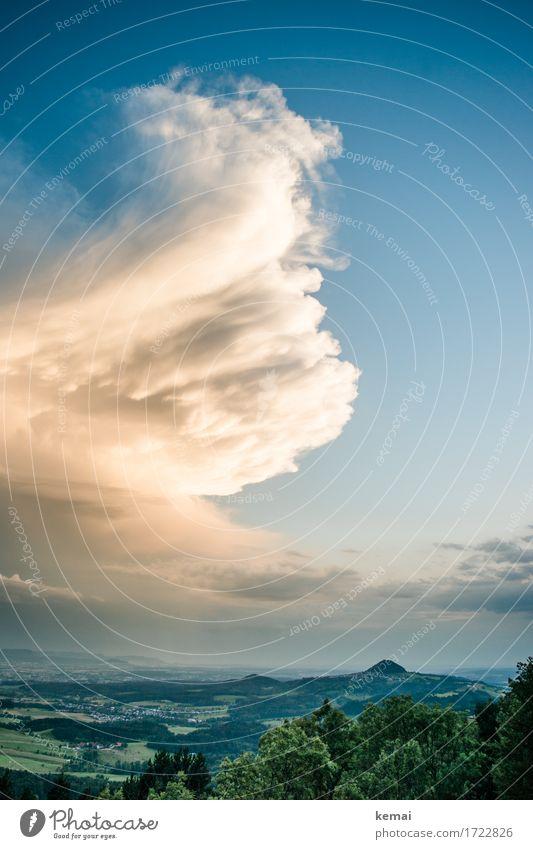 Swirl Abenteuer Ferne Freiheit Umwelt Natur Landschaft Pflanze Urelemente Himmel Wolken Gewitterwolken Sonnenlicht Sommer Wetter Unwetter Baum Hügel