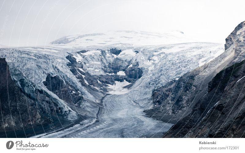 Pasterze Farbfoto Außenaufnahme Menschenleer Tag Panorama (Aussicht) Schnee Berge u. Gebirge Klettern Bergsteigen Sommer Eis Frost Alpen Großglockner Gletscher