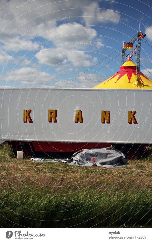 Das ist doch... Himmel Wolken Wiese Kunst Deutschland Feld Schönes Wetter Schriftzeichen Show Zeichen Buchstaben Kultur Krankheit Fahne Veranstaltung