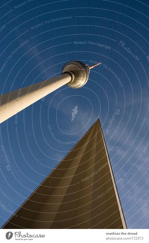 ECKE & SPITZE Himmel Natur Stadt Wolken Umwelt Berlin Gebäude Luft Deutschland hoch Turm einzigartig Fernseher Kugel Skyline