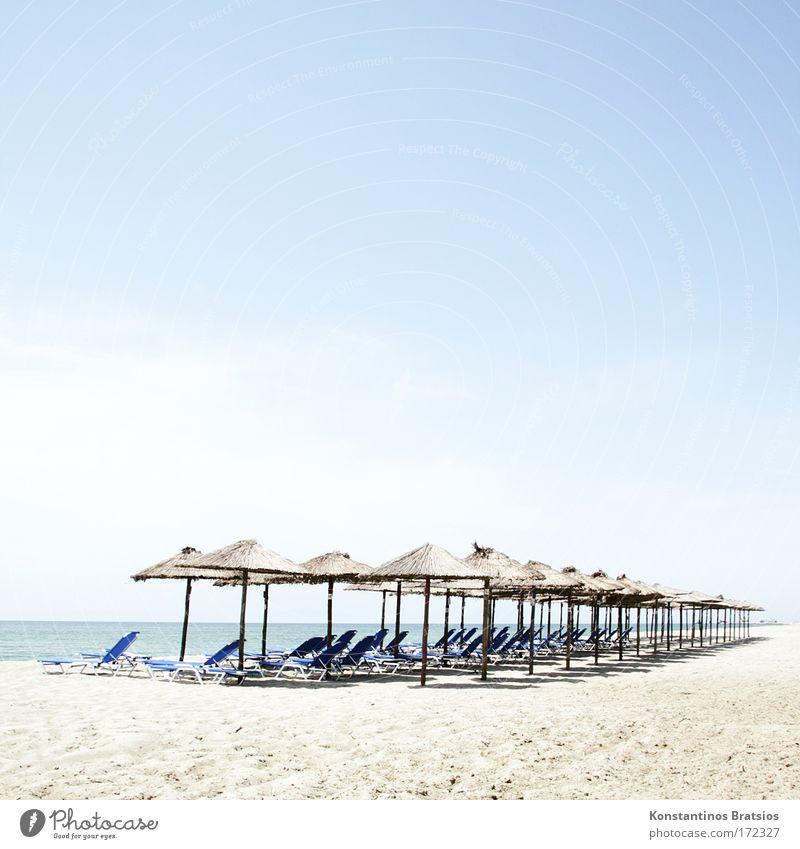 Liege + Softdrink 2,50€ schön Himmel Meer Sommer Strand Ferien & Urlaub & Reisen Wolken Erholung Wärme Sand hell Horizont Europa Wellness Tourismus Sauberkeit