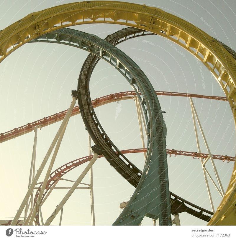 sich immer im leben kreise drehen. grün Sommer Freude gelb oben Freiheit Kindheit Angst Freizeit & Hobby elegant Kreis schreien Stahl Mut Jahrmarkt