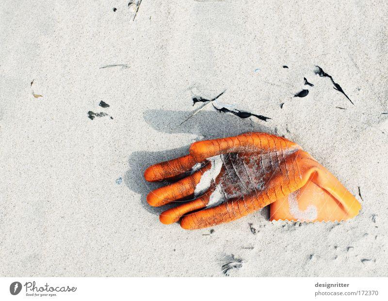 Winke, winke … alt Hand Meer Strand Einsamkeit Küste liegen Arme dreckig Wasserfahrzeug Finger kaputt Fisch Schutz Nordsee Schifffahrt