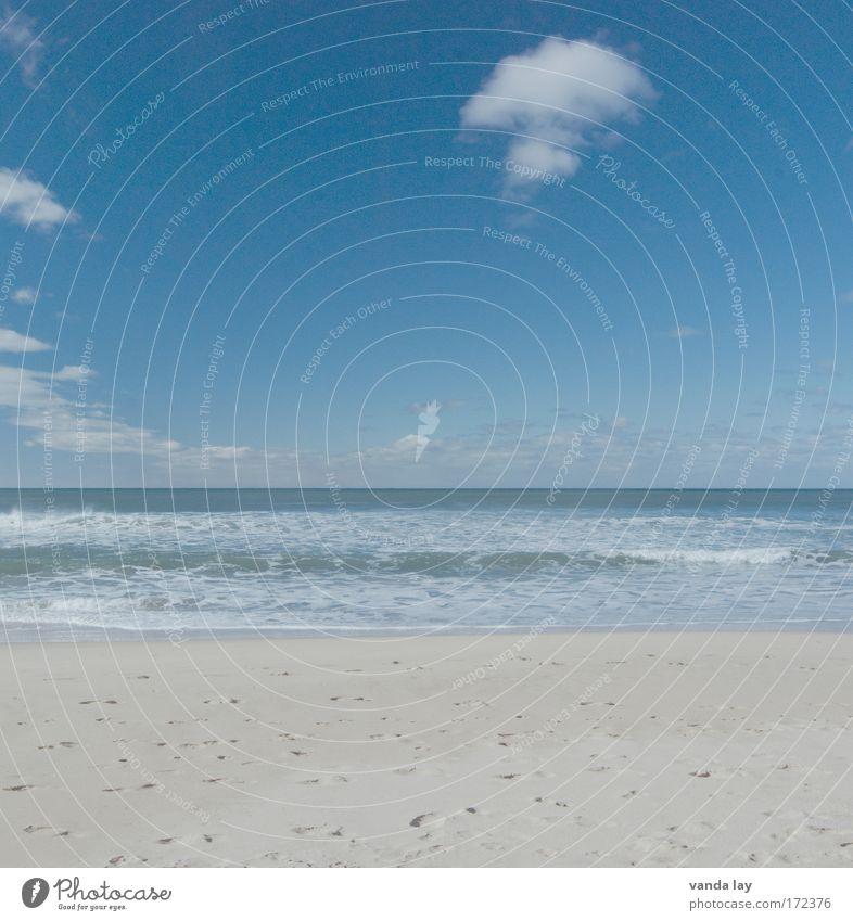 Weite Natur Wasser Himmel Sonne Meer Sommer Strand Ferien & Urlaub & Reisen Wolken Erholung Freiheit Landschaft Wellen Küste Umwelt Horizont