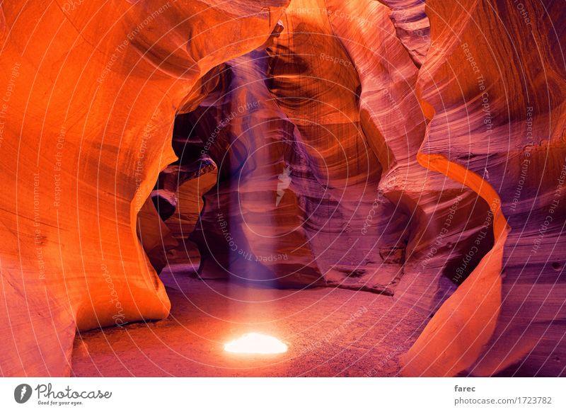 Antelope Canyon Navajo Tribal Park Landschaft Erde Sand Sommer Schönes Wetter Regen Felsen Wüste Sehenswürdigkeit Stein genießen leuchten wandern authentisch