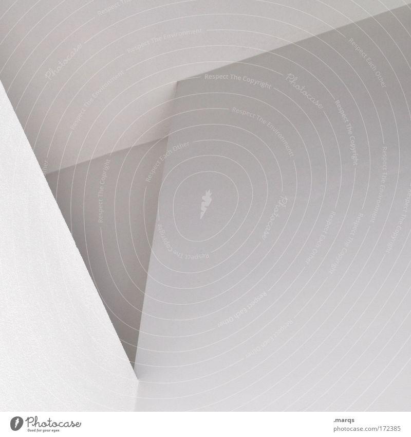 V Gedeckte Farben Experiment abstrakt Muster Textfreiraum rechts Schatten elegant Stil Design Gebäude Architektur Beton Linie ästhetisch außergewöhnlich eckig
