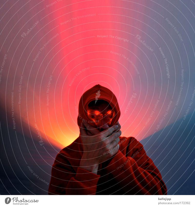 nicht rot werden Mensch Mann rot Erwachsene Gesicht Auge Leben Kopf leuchten Brille Stress Scham Nervosität Leuchtdiode Nachtleben verstört