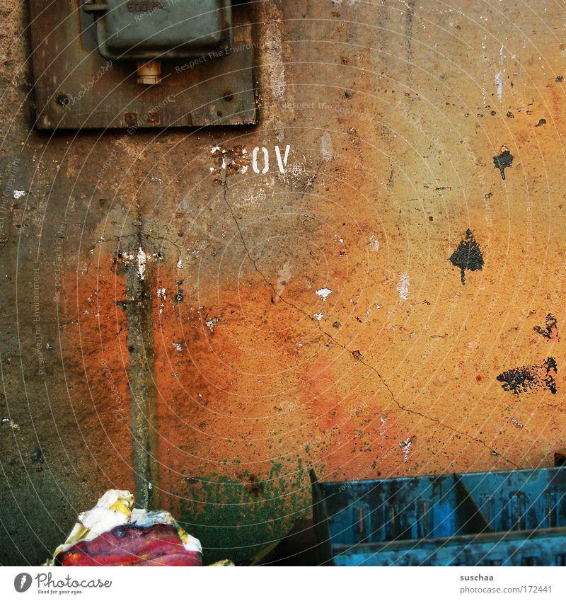 ohr oder kaffee .. Wand Mauer orange Fassade Vergänglichkeit verfallen Anstreicher Inspiration High-Tech porös verschlissen