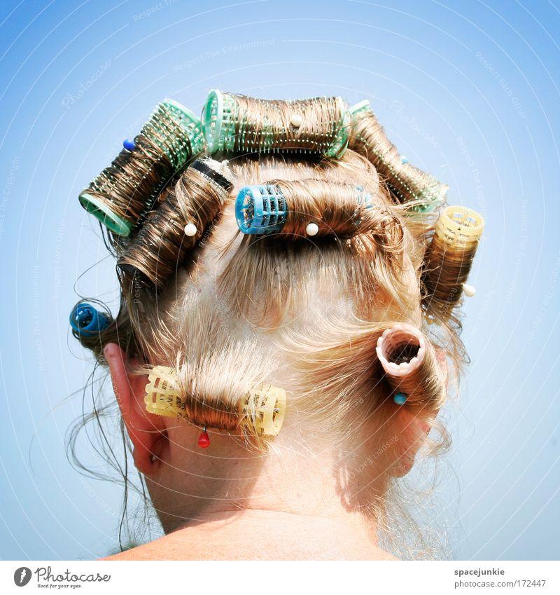 Locken Mensch Frau Erwachsene Erholung feminin Kopf Haare & Frisuren blond natürlich nass authentisch Perspektive Ohr skurril Behaarung