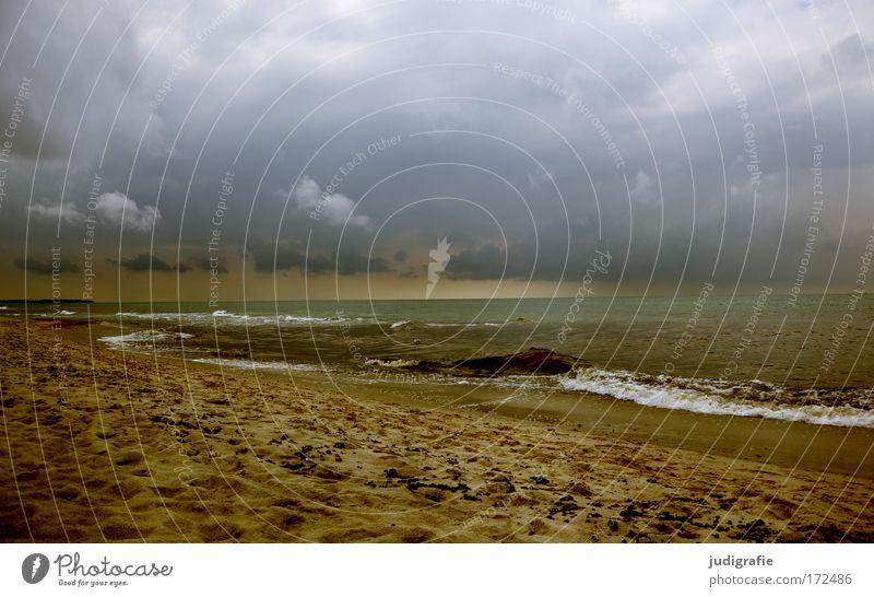 Ostsee Natur Wasser Himmel Meer Strand dunkel Landschaft Wellen Küste Wetter Umwelt bedrohlich Klima Gischt Wolkenhimmel