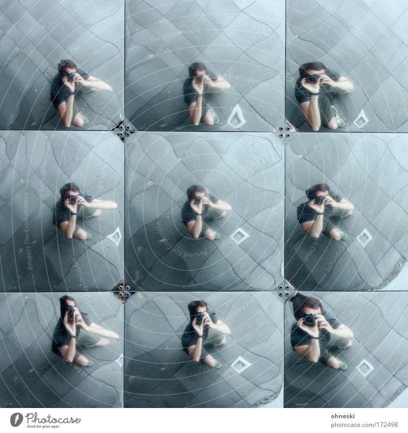 Multiple Persönlichkeit [Usertreffen Bo] Mensch Mann Erwachsene Froschperspektive maskulin verrückt außergewöhnlich Beruf Fotograf eckig Fotografieren