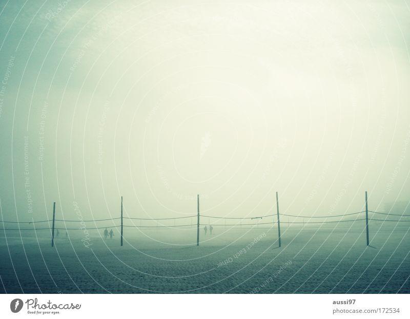 Trail of dawn Strand Ferien & Urlaub & Reisen Erholung wandern Nebel Insel Spaziergang Bucht Nordsee ausschalten Sommerferien Nebelschleier Nebelstimmung