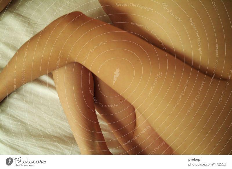 Weichspielerin Frau Mensch Jugendliche schön ruhig Erwachsene Erholung feminin Gesundheit Körper Arme Haut natürlich liegen schlafen Bett