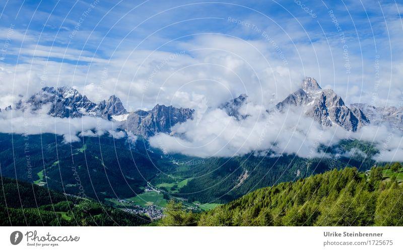 Fischleintal / Dolomiten Ferien & Urlaub & Reisen Tourismus Ausflug Sommer Berge u. Gebirge wandern Umwelt Natur Landschaft Pflanze Wolken Schönes Wetter Baum