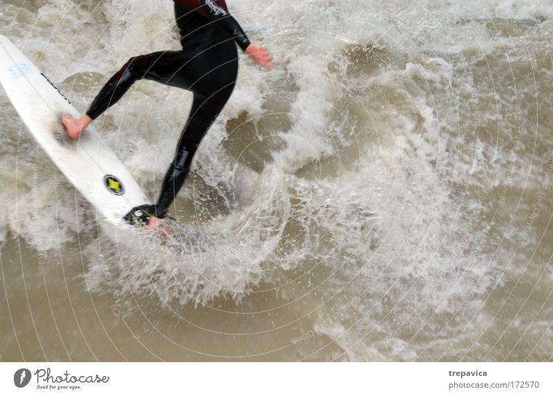 surf Mensch Natur Mann Jugendliche Wasser Ferien & Urlaub & Reisen Freude Erwachsene Sport Leben Glück Beine Fuß Junger Mann Gesundheit Zufriedenheit