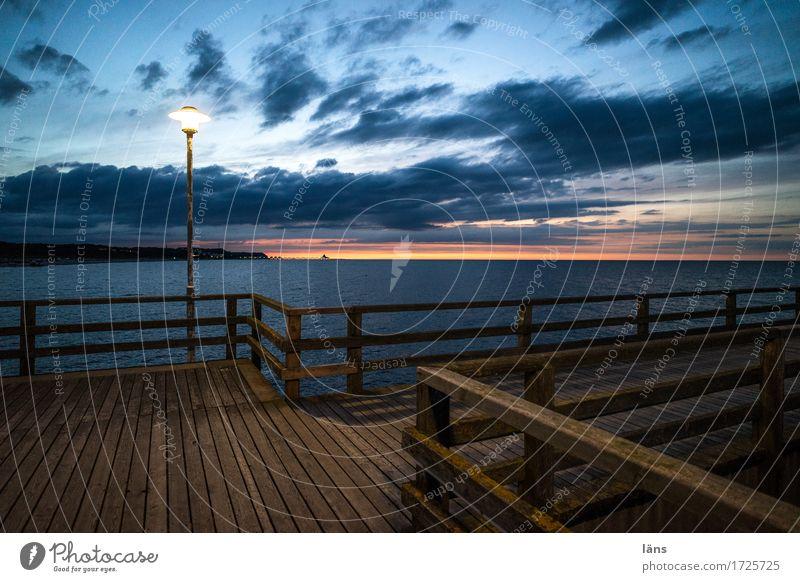 Seebrücke lll Ferien & Urlaub & Reisen Tourismus Ausflug Meer Umwelt Natur Wasser Himmel Wolken Sonnenaufgang Sonnenuntergang Sommer Küste Ostsee Insel Usedom